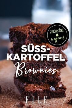 - Sugar free and vegan! This sweet potato brownies recipe is our favorite snack potato - Healthy Sweets, Healthy Dessert Recipes, Healthy Baking, Breakfast Recipes, Brownie Low Carb, Sweet Potato Brownies Vegan, Healthy Brownies, Tartiflette Recipe, Healthy Low Carb Dinners