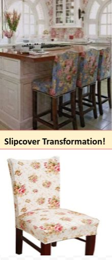 """Wow they fit perfectly & are only $7.99!! Stretch So many prints love #Shabby chic #french country! Transform counter stools, dining chairs, outdoor seating! Love them - Read about it on """"Bring It Home"""" Blog - Backyard & Outdoor Bridal Shower ideas. Unique Keepers!"""