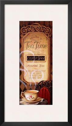 Tea Time Menu Prints by Lisa Audit at AllPosters.com