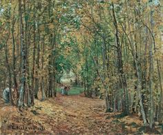 """""""The woods at Marly"""" (1871) By Camille Pissarro (French, 1830-1903) oil on canvas; 45 x 55 cm © Museo Thyssen-Bornemisza, Madrid, Spain"""