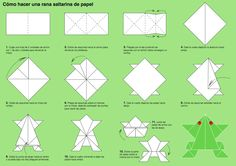 Instructions to learn how to make origami frog by Lydilena