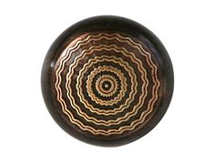 2 Copper Gold Rippled Circles 7/8 inch  22 mm  by ButtonJones, $3.30