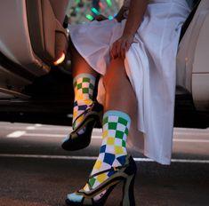 Hidden jokes - Socks Outfits - ain't they cray? Office Jokes, Pumps, Heels, Socks, Elegant, Outfits, Fashion, Heel, Classy