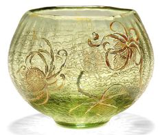 'CHARDONS', AN EMILE GALLÉ ACID-ETCHED AND ENAMELLED GLASS VASE -  CIRCA 1900