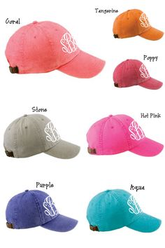 MONOGRAMMED Baseball Hat Cap ASSORTED by embellishboutiquellc, $18.99... maybe if we make it to the beach