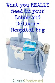 What you REALLY need in your labor and delivery hospital bag