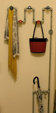 Use some old pipes in a mud room