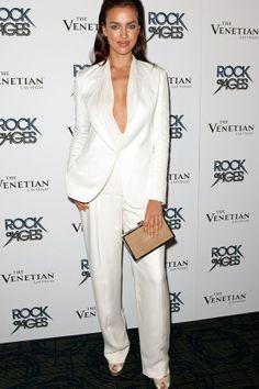 The power pantsuit  Irina Shayk