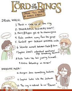 Totally going to do this. If I drink enough, will it really get me to Middle-earth? Actually, I want to go to Beleriand... okay, fine... I want to go to Angband. :D
