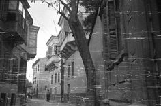 Konak, 1950'li yıllar. Eski Devlet Hastanesi arka sokağı.