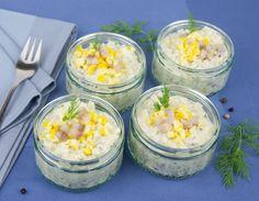 Matjes-Kohlrabi Salat Fett, Brunch, Vegetables, Salads, Dill Recipes, Fish, Couple, Vegetable Recipes, Brunch Party