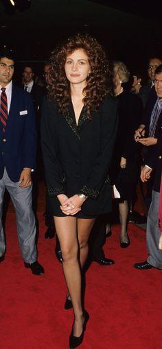 Pin for Later: Souvenez Vous: la Première Fois Que les Stars Sont Apparues Sur le Tapis Rouge Julia Roberts, 1989