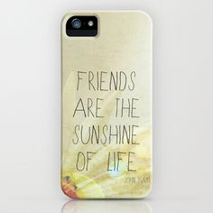 Sunshine & Friendship iPhone Case by Rachel Burbee - $35.00