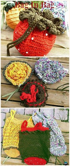Crochet Drawstring Bags Free Patterns & DIY Tutorials: for kids and adults, drawstring shoulder bags, gift bags and pouches, drinks bags, dice. Crochet Shell Stitch, Bead Crochet, Free Crochet, Crochet Handbags, Crochet Purses, Crochet Bags, Crochet Drawstring Bag, Drawstring Bags, Crochet Purse Patterns