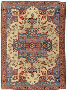 Persian Heriz Serapi rug, late 19th c                                                                                                                                                                                 More