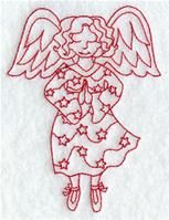 Machine Embroidery Designs at Embroidery Library! - A Christmas Fairies (Redwork) Design Pack - Sm