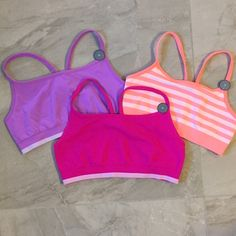 FIND AT @threebeezhome NWT set of three adorable sports bras from Gap Body. Very stretchy and soft. Great colors to wear under oversized muscle tanks! Just the cutest! Gap Body Intimates & Sleepwear Bras