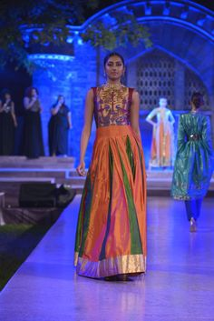 A multi-colour #zari thread work long #kurta by Neeta Lulla #MakeinIndia