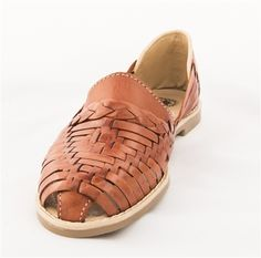 Buy Woven Closed Toe Mexican Sandal Flats.  These are handmade authentic Mexican sandals made from 100% leather.