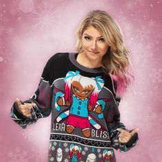 Ugly Holiday Sweater, Ugly Sweater, Knit Sweaters, Wrestling Divas, Women's Wrestling, Aj Styles, Wwe Raw Women, Wwe Sasha Banks, Lexi Kaufman