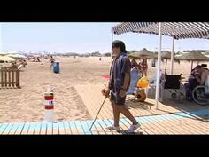 Beach accessibility for blind or visually impaired users