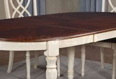 Stain the top of Pop's table darker? Paint bottom Annie Sloan old ochre?
