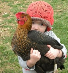 Girl with a chicken!