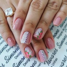 Manicure Colors, Manicure And Pedicure, Nail Colors, Manicure Ideas, Glitter French Manicure, Wedding Manicure, Stylish Nails, Beauty Nails, Cute Nails