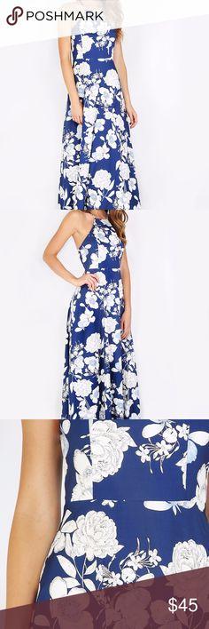 0fd3301f7ad9b Halterneck Floral Print Maxi Dress Material  Polyester Color  Multicolor  Pattern Type  Floral Neckline