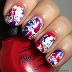 Fierce Makeup and Nails: NOPI 4th of July Nail Design #nicolebyopi