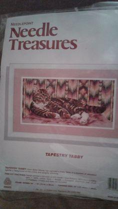Tapestry Tabby Needlepoint - Tabby Cat Needlepoint Kit #JCA