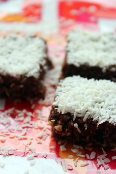 barefoot and frolicking: cacao-coconut haystack squares and a happy new year