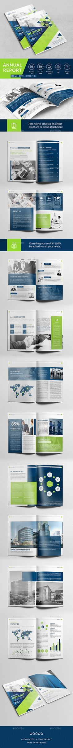 Haweya Modern Annual Report Annual report design, Corporate - professional report template