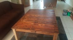 First DIY. Pallet Coffee Table