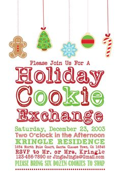 cookie exchange party printable package classic theme invitation voting cards blank tented cards favor gift tags award tags print as man - Christmas Cookie Exchange Party