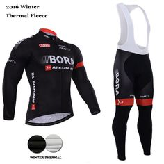 d19049b9c 2016 Winter thermal fleece Team Bora Argon 18 ropa cycling clothing jersey  Set long sleeve bike