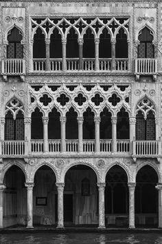 Ca' d'Oro - Venice; venetian floral gothic