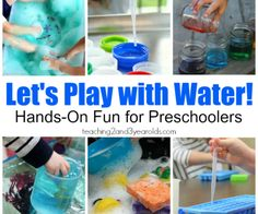 water activities for preschoolers - teaching 2 and 3 year olds