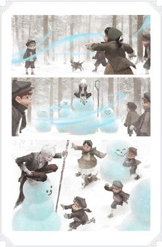 """Jack shows off his resourcefulness in """"Winter Spirit"""" by Rise of the Guardians visual development artist WoonYoung Jung."""