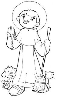 Dibujos para catequesis: SAN MARTÍN DE PORRES