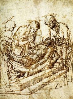 1459 - The Entombment - Andrea Mantegna Figure Sketching, Figure Drawing, Drawing Board, Italian Painters, Italian Artist, Sculpture Romaine, Andrea Mantegna, Fra Angelico, Renaissance Artists