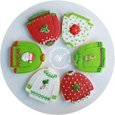 Deluxe Ugly Christmas Sweater Cookie Gift Set - 12 Pack by #whippedbakeshop http://whippedbakeshop.com