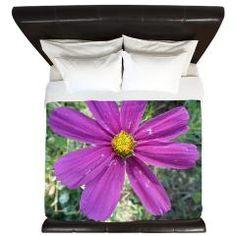 Purple Flower King Duvet