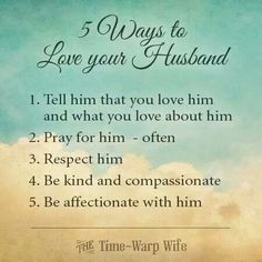 5 ways to love your husband