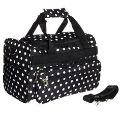 World Traveler Black White Polka Dots Duffle Bag 13-inch >>> New and awesome product awaits you, Read it now  : Christmas Luggage and Travel Gear