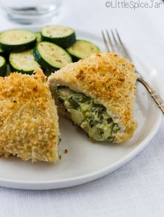 Spinach Cream Cheese Stuffed Chicken Breast -  loaded with scallions, cream cheese, and lots of spinach! #stuffedchickenbreast #chickendinner #stuffedchicken   Littlespicejar.com