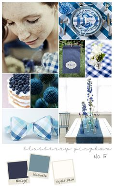 Blueberry Gingham Inspiration Board