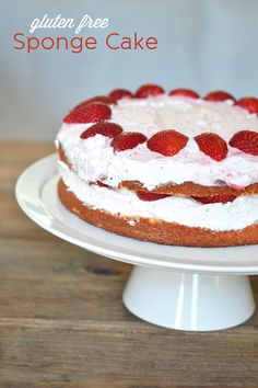 Gluten Free Sponge Cake - serve with fresh whipped cream & berries for Memorial Day!