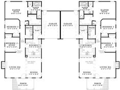 House plan number - a beautiful 6 bedroom, 4 bathroom home. Duplex Floor Plans, Apartment Floor Plans, Duplex Apartment, Apartments, Multi Family Homes, Architectural Design House Plans, Creative Home, Master Suite, Retirement