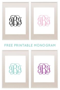 Free printable monograms from printablemonogram.com #freeprintable #monogram